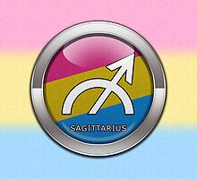 Sagittarius - Pansexual Pride  by LiveLoudGraphic