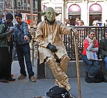 Yoda in Piccadilly Circus by Keith Larby