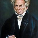 portrait of Schopenhauer after masterpiece by Hidemi Tada