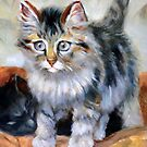 cat 8 after Henriette Ronner-knip by Hidemi Tada