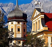 The abbey of Stams in Tyrol Austria by Elzbieta Fazel