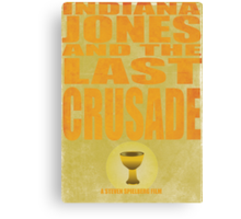 Indiana Jones and The Last Crusade Canvas Print
