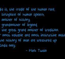 India - Mark Twain by Satish K
