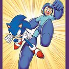 Sonic X Megaman by thedoormouse