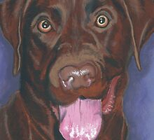 Chocolate Labrador Retriever 'Bright Eyes' by LouLouD123