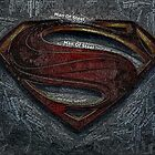 Superman Man Of Steel Mosaic by finalscore