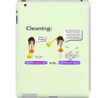 Cleaning. Never a good idea iPad Case/Skin