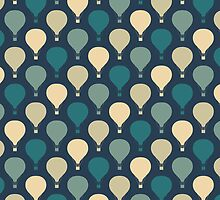Whimsical Hot Air Balloon Pattern by cikedo