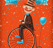 Penny-farthings circus by limeart