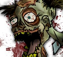 Zombie Head by JuggernautMike