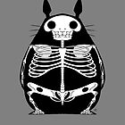 Skeleton Totoro by crabro