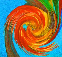 Avian Swirl 3 by Margaret Saheed
