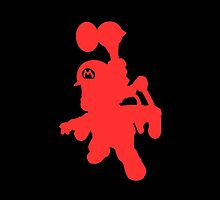 Super Mario Sunshine Red Shadow/Outline by Violentsofa