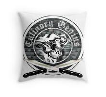 Skull Chef: Culinary Genius 7 Throw Pillow
