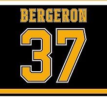 Boston Bruins Patrice Bergeron Jersey Back Phone Case by Russ Jericho