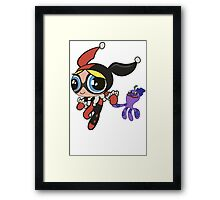 Bubbles Harley-Quinn and Joker Cosplay Framed Print