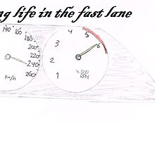 Living life in the fastlane by boostedartwork