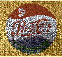 Classic Pepsi Cola sign made of bottle cap mosaic by finalscore