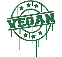 Vegan graffiti stamp by Style-O-Mat