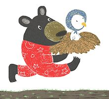 Black Bear and Little Red-Crowned-Crane, A Story by Denise Wong