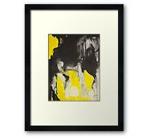 Crazy yellow 3 Framed Print