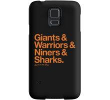 Loyal to the Bay - San Francisco (Orange Print) Samsung Galaxy Case/Skin