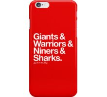 Loyal to the Bay - San Francisco (White Print) iPhone Case/Skin