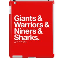 Loyal to the Bay - San Francisco (White Print) iPad Case/Skin