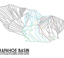 Arapahoe Basin, CO - Minimalist Trail Map by CirSquDiaArt