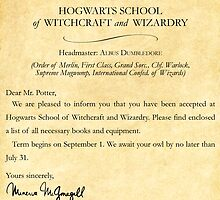 Hogwarts Letter by kdm1298