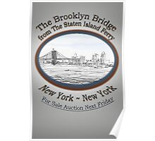 Brooklyn Bridge For Sale Poster