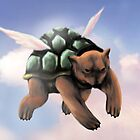 Flying Turtle Bear by Darthblueknight