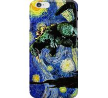 Godzilla versus Starry Night iPhone Case/Skin
