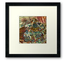 wild oil colours flow - abstract Framed Print