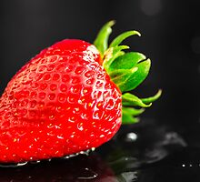 Wet Strawberry by MMPhotographyUK