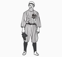 New York Yankee Baseball Player by Daniel Gallegos