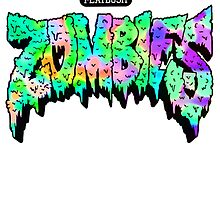 Flatbush ZOMBiES Logo - Green/Multicolored  by Ben McCarthy