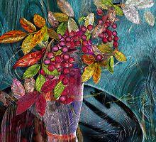 Nandina Fractal Botanical by Alma Lee