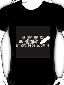 Bulletproof Love - Pierce the Veil Lyric Overlay T-Shirt