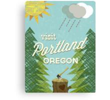 Visit Portland OR Canvas Print