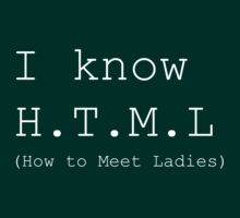I know H.T.M.L (How to Meet Ladies) by waywardtees