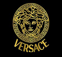 GOLDEN VERSACE PHONE CASES (BLACK) by AWLOKAY