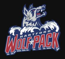 Hartford Wolf Pack logo black t-shirt by awesomeshirt