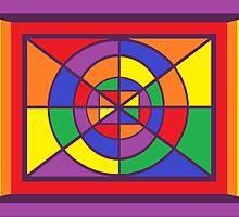 A Geometric Rainbow Dezine by Jana Gilmore