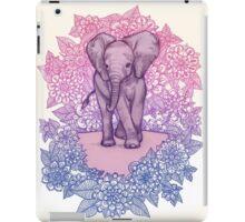 Cute Baby Elephant in pink, purple & blue iPad Case/Skin