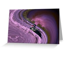 Ride the big waves with calm serenity Greeting Card