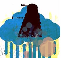 Dalek - [Blue Cloud + Silhouette] by infinite-tardis
