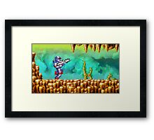 Turrican retro painted pixel art Framed Print