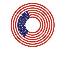 American FLAG; STARS & STRIPES; CIRCULAR; USA by TOM HILL - Designer
