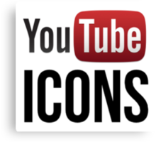 YouTube Icons logo Canvas Print
